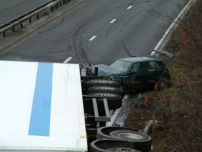 卡车崩溃 免版税库存图片