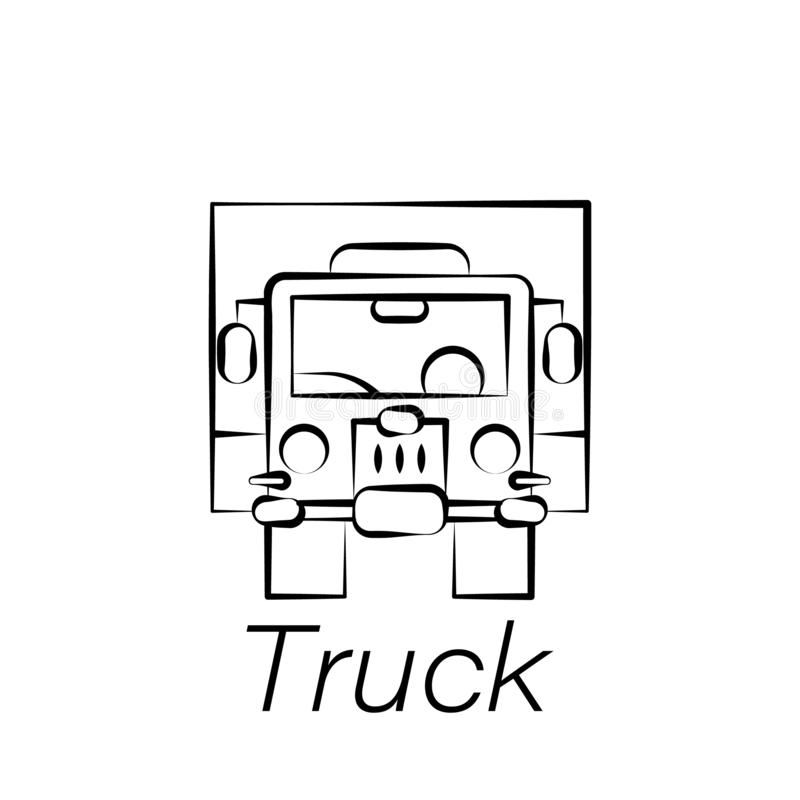 卡车手凹道象 种田例证象的元素 标志和标志可以为网,商标,流动应用程序,UI,UX使用 向量例证