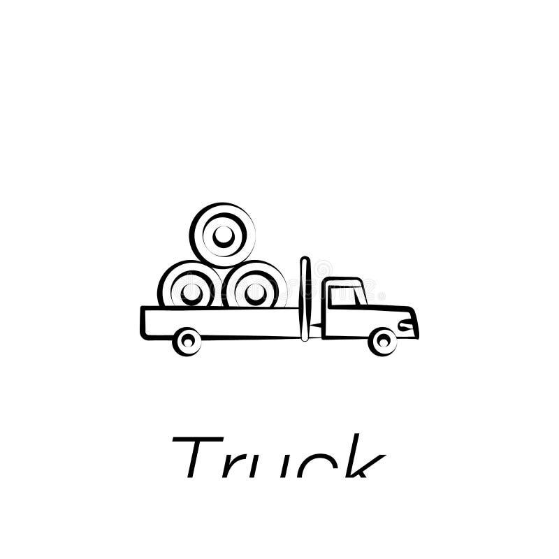 卡车手凹道象 种田例证象的元素 标志和标志可以为网,商标,流动应用程序,UI,UX使用 库存例证