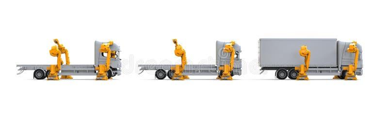 卡车装配线 库存例证