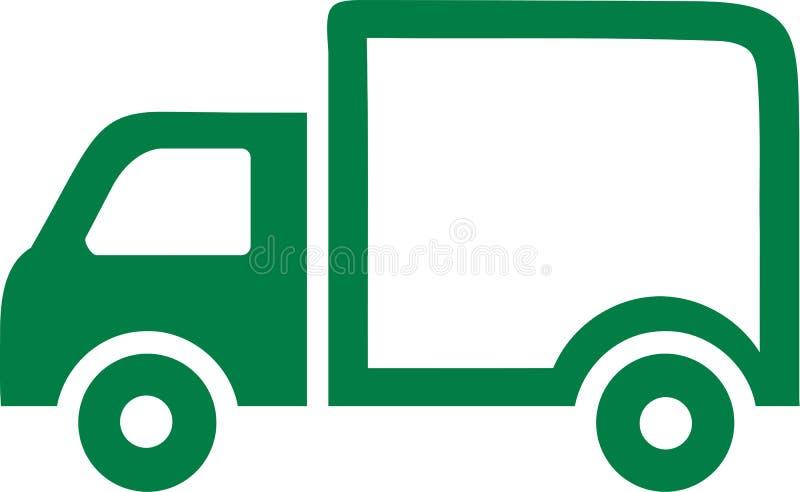 卡车象绿色 库存例证