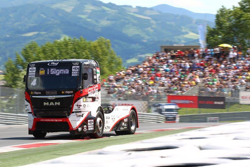 卡车赛跑 免版税图库摄影