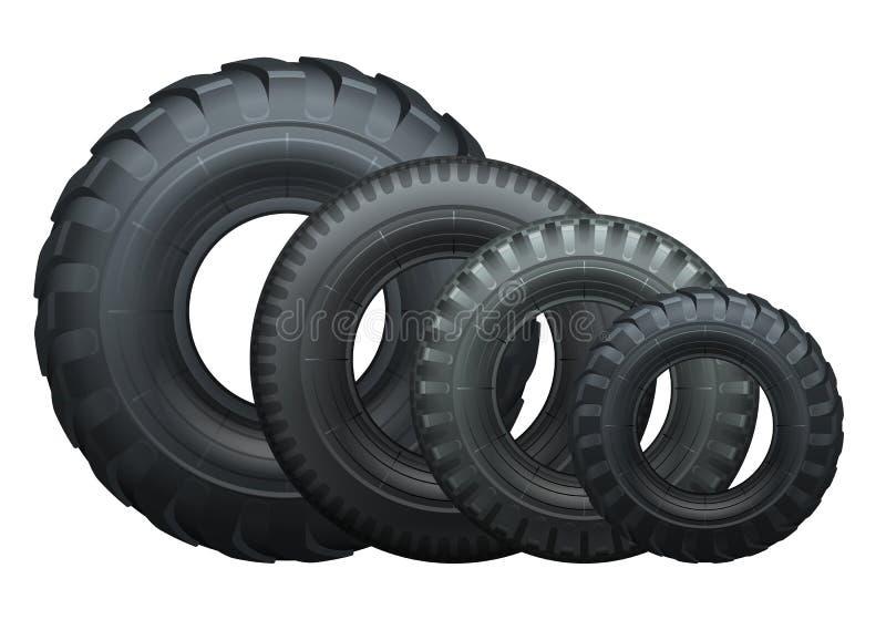 卡车轮胎 皇族释放例证