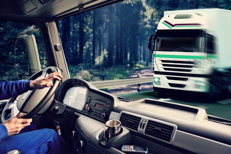卡车驾驶舱 免版税库存照片