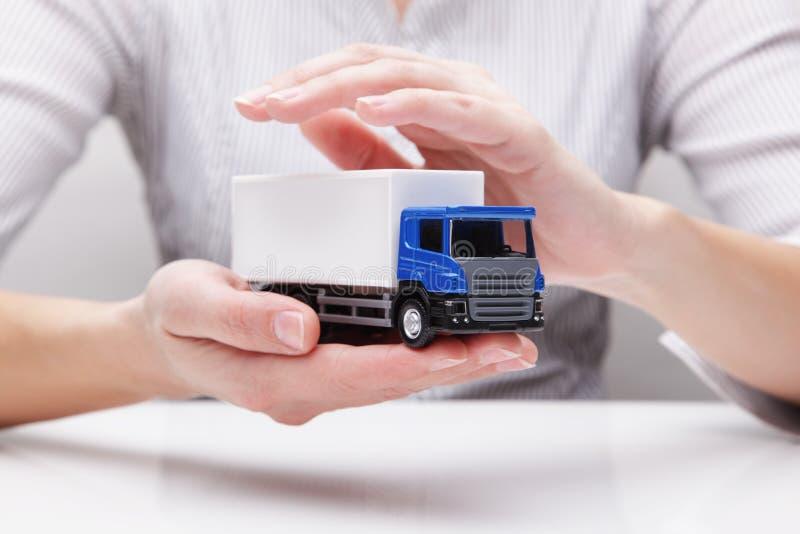 卡车(概念)的保护 库存图片