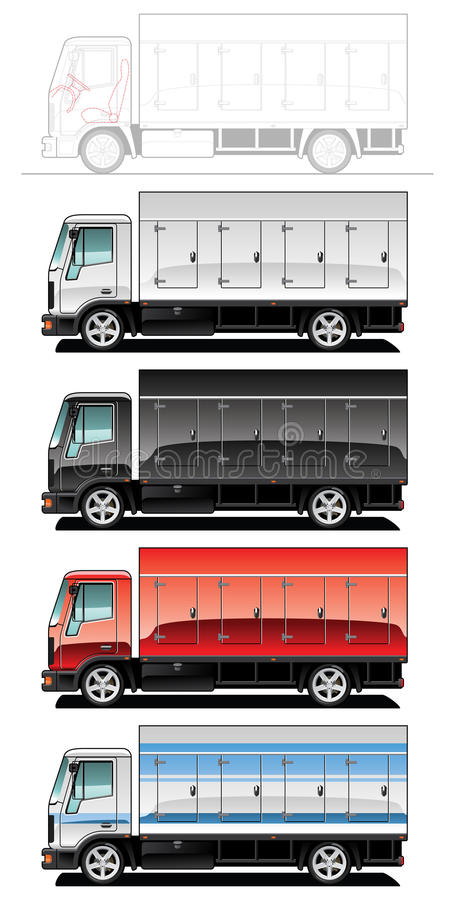 Download 卡车 向量例证. 插画 包括有 背包, 例证, 有篷货车, 负荷, 设计, 运输, 马达, 查出, automatics - 15697781