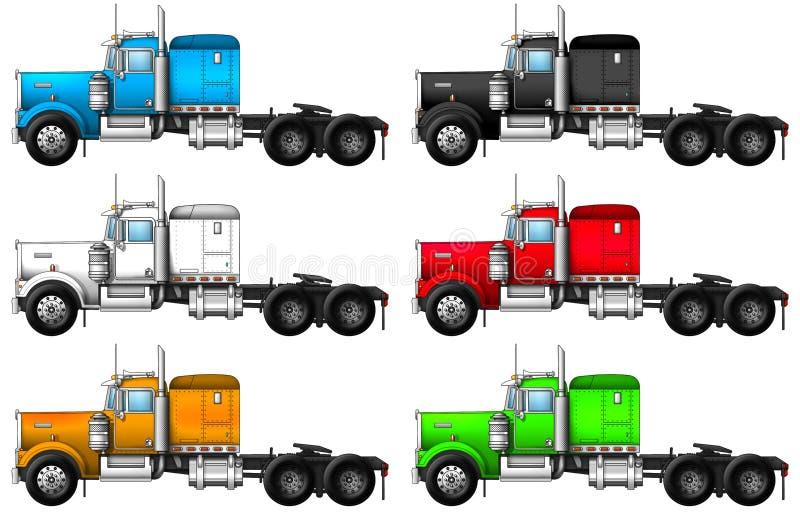 卡车kenworth w900的图象 向量例证