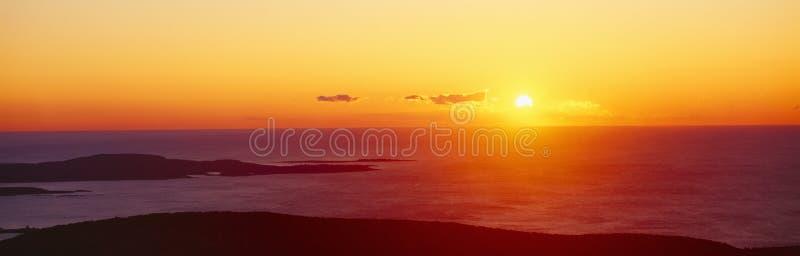卡迪拉克山日出 库存照片