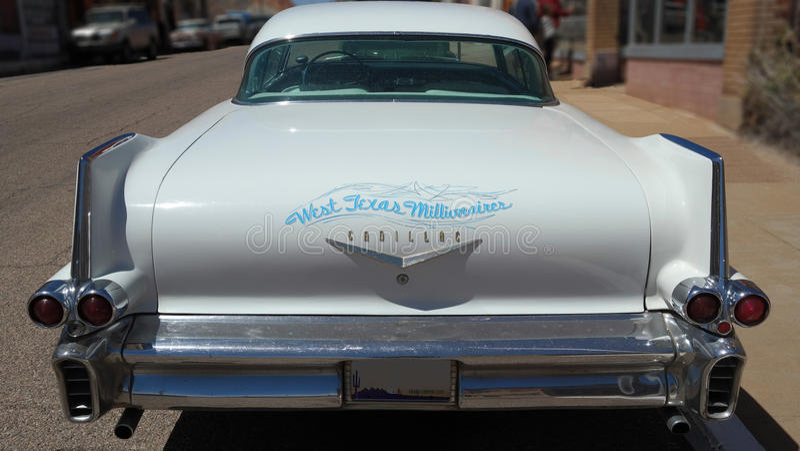 1958年卡迪拉克轿车DeVille :背面图 免版税库存照片
