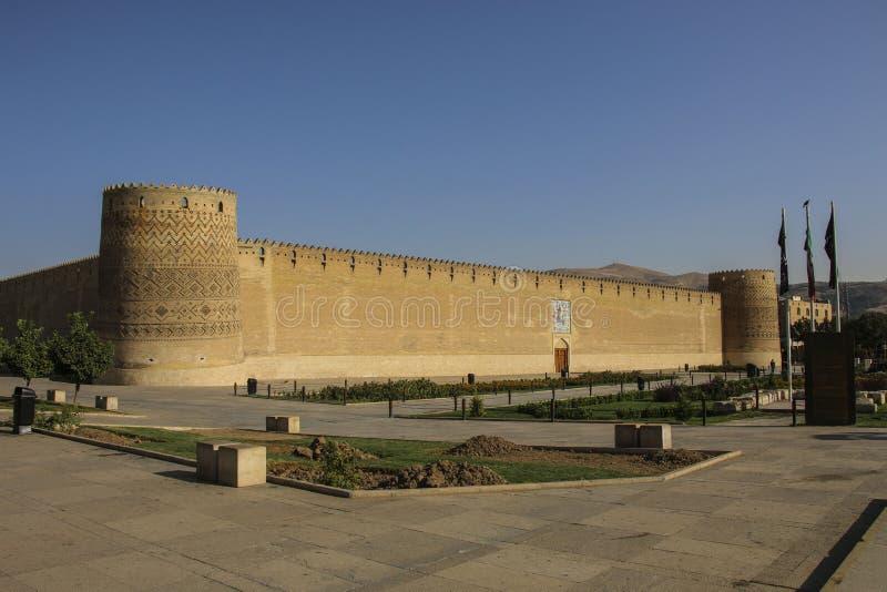 卡里姆汗城堡在设拉子,伊朗 叫作Arg-e卡里姆K 免版税库存图片