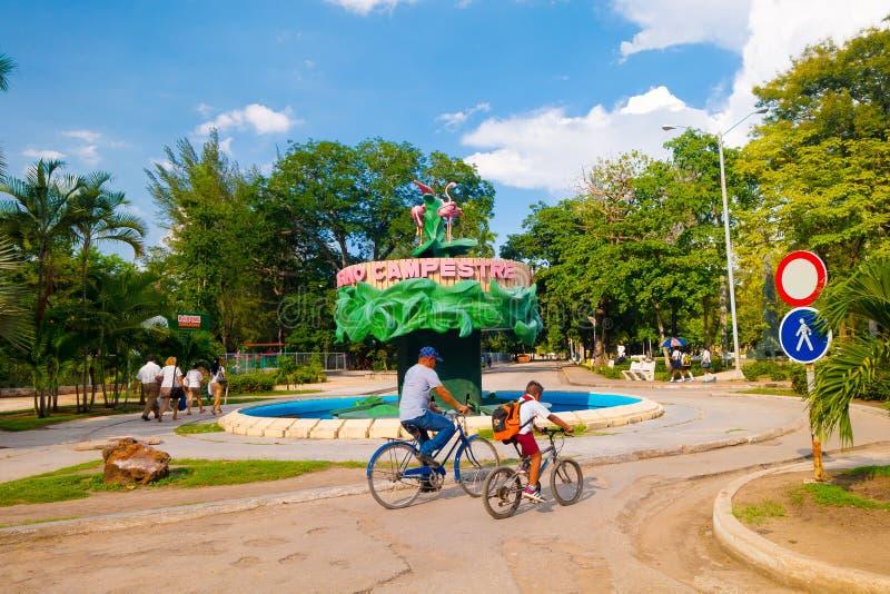 卡马圭,古巴- 2015年9月4日:街道视图  免版税库存照片
