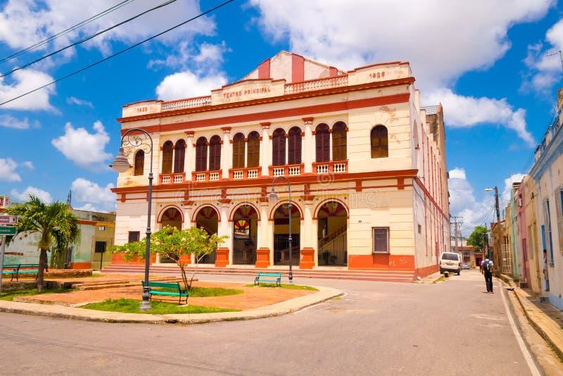 卡马圭,古巴-老镇在联合国科教文组织世界列出了 免版税库存图片