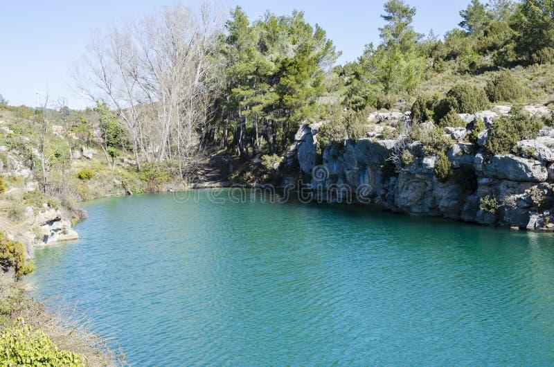 卡马里利亚斯喷泉和沼泽 库存照片