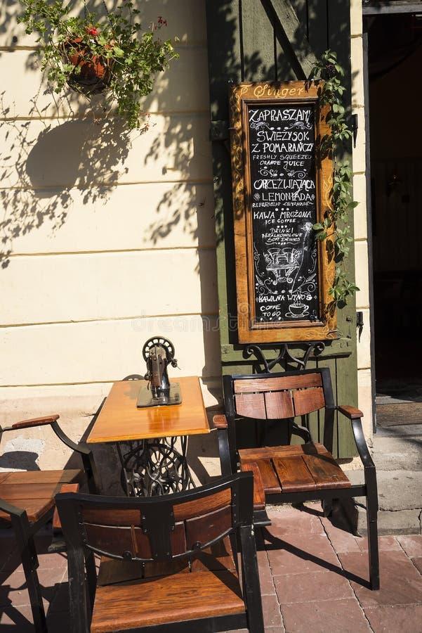 卡齐米日的餐馆在克拉科夫波兰 库存图片
