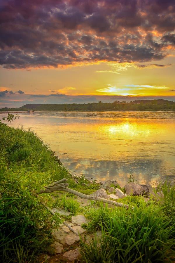 卡齐米日Dolny -鲁布林省的一个城市,在PuÅ 'awy poviat,在维斯瓦河 免版税库存照片