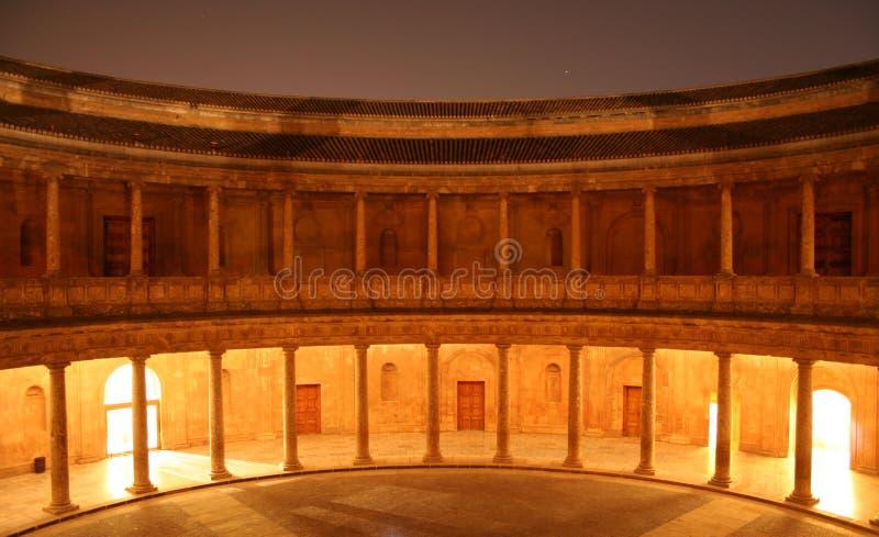卡洛斯五世宫殿在格拉纳达市,西班牙 免版税图库摄影