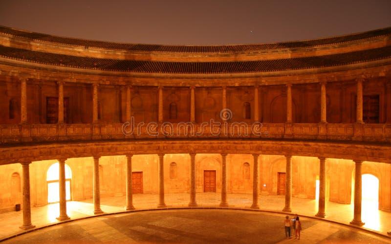 卡洛斯五世宫殿在格拉纳达,西班牙 免版税库存图片