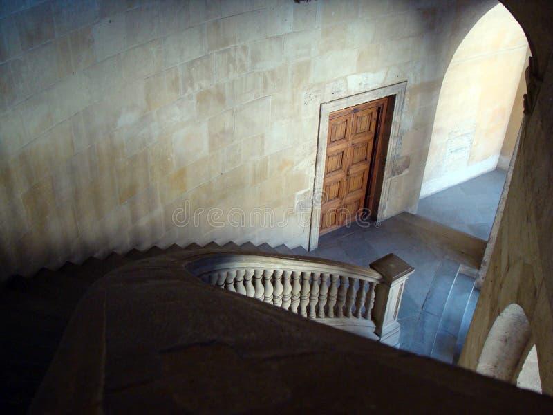 卡洛斯五世宫殿的楼梯在格拉纳达 库存照片