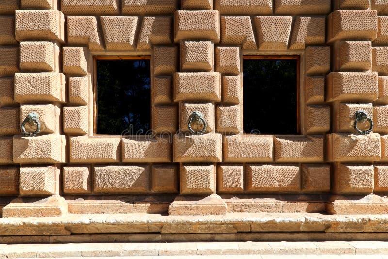 卡洛斯五世,阿尔罕布拉宫,格拉纳达,西班牙新生宫殿  免版税库存照片