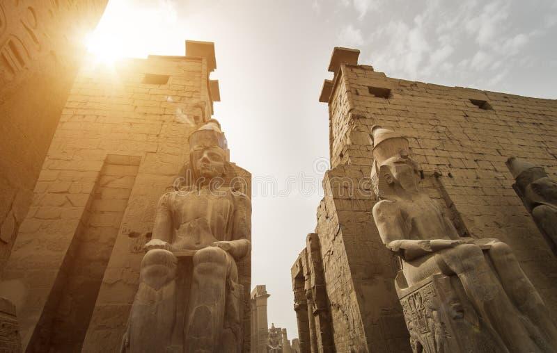 卢克索神庙的入口,埃及 免版税库存照片