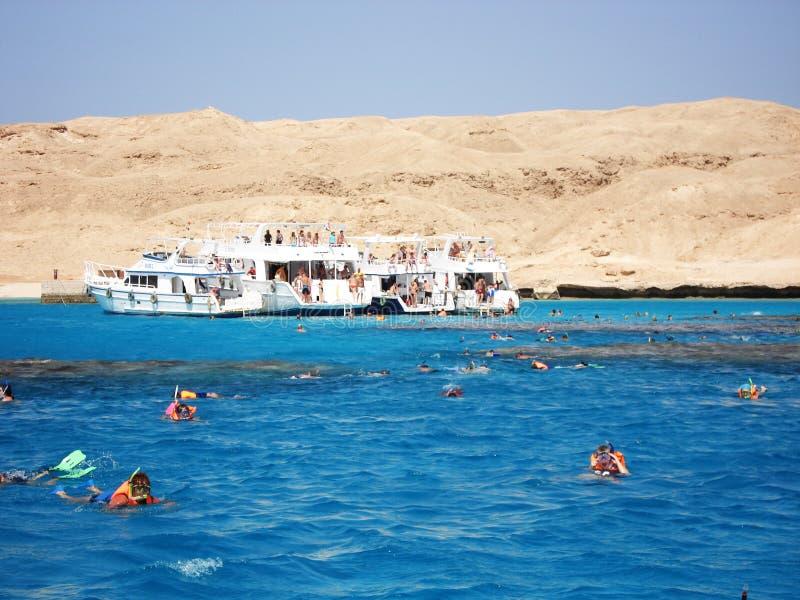 卢克索,埃及 ?? ?? ?? 在岸的小船 ?? ?? 免版税图库摄影