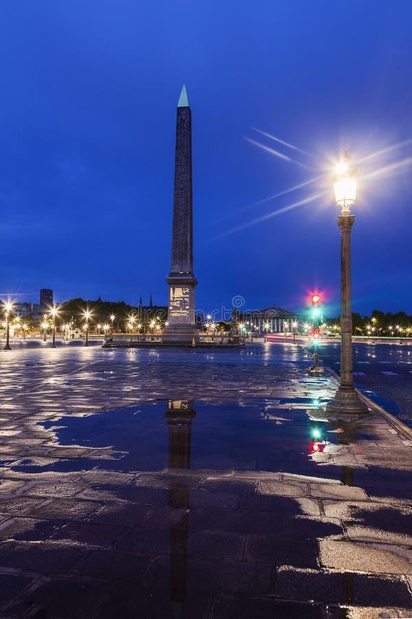 卢克索方尖碑协和广场的在巴黎 免版税库存照片