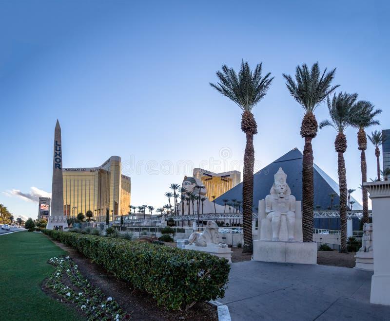 卢克索旅馆赌博娱乐场-拉斯维加斯,内华达,美国 免版税库存照片