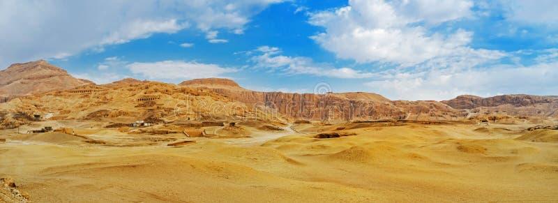 卢克索沙漠风景  库存照片