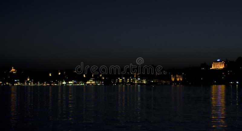卢塞恩晚上地平线 免版税库存图片