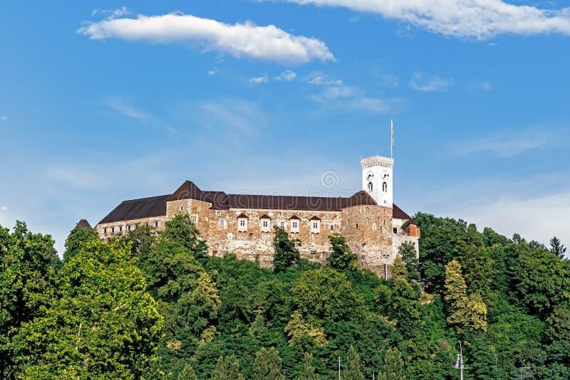 卢布尔雅那城堡 免版税库存照片