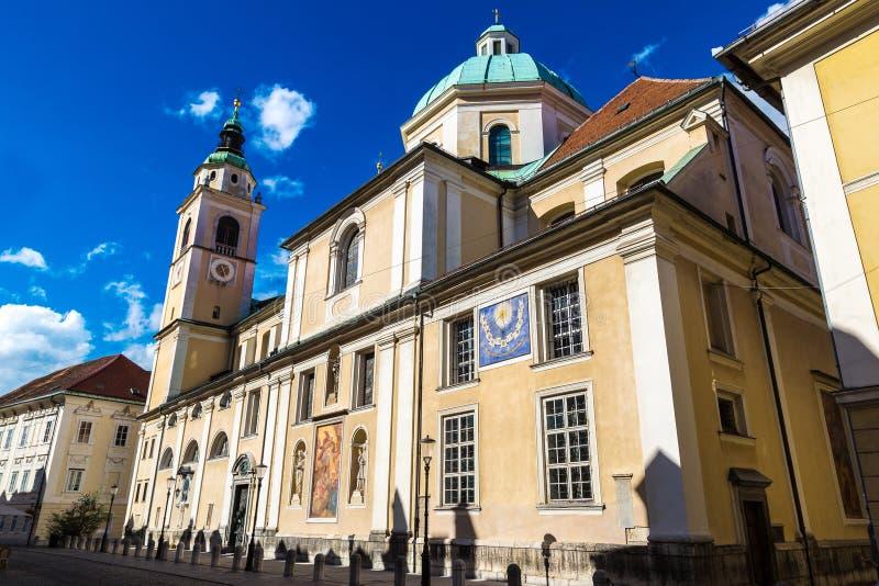 卢布尔雅那尼古拉斯教会 库存图片