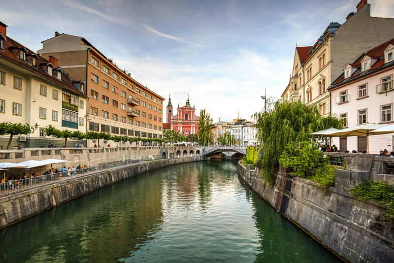 卢布尔雅那市,斯洛文尼亚 库存照片