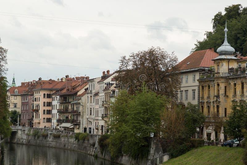 卢布尔雅那斯洛文尼亚视图 库存照片