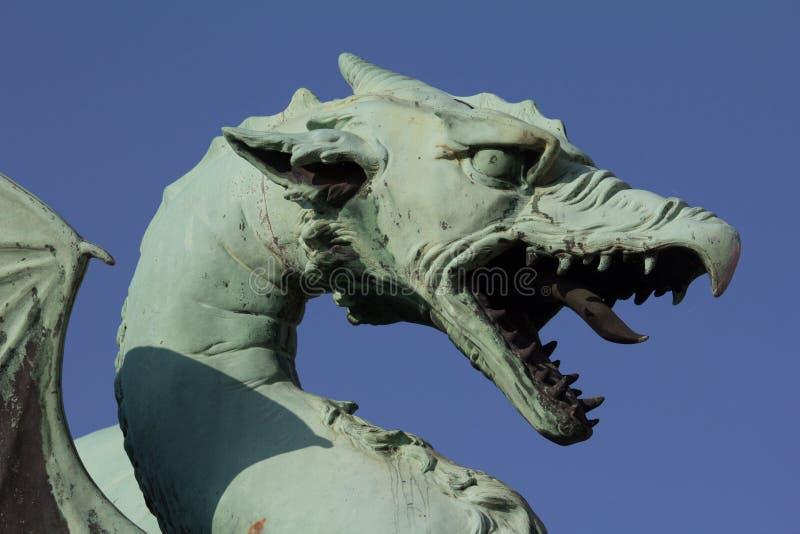 卢布尔雅那的龙 库存照片