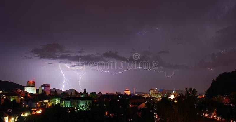 卢布尔雅那风暴 免版税图库摄影