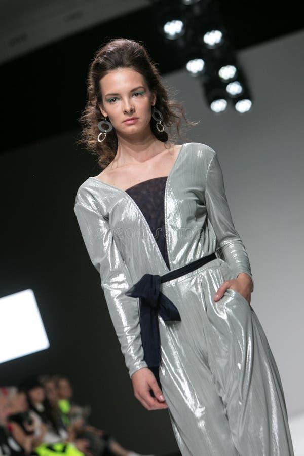 卢布尔雅那,斯洛文尼亚/斯洛文尼亚- 2019年4月01日:时尚星期LJFW 免版税库存图片