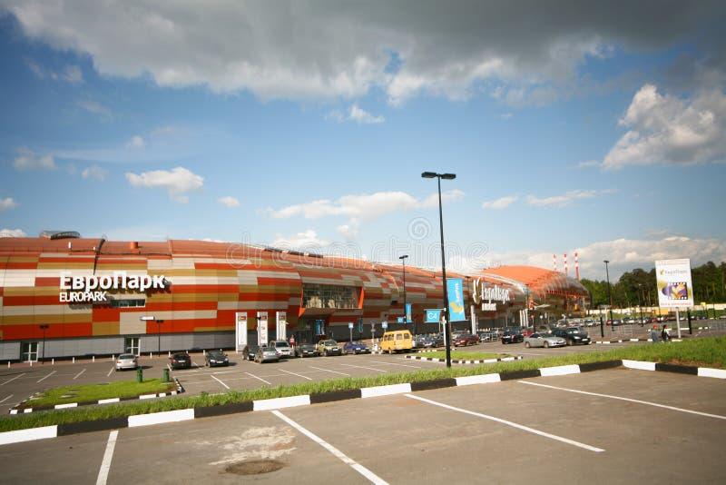 卢布的大型超级市场欧尚 库存图片