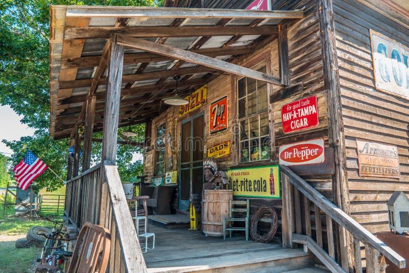 卢拉,Georgia/USA-6/10/17古国商店 免版税图库摄影