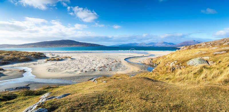卢斯肯泰尔美丽的沙滩 免版税库存图片