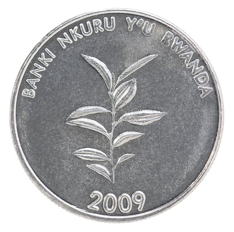 卢旺达法郎硬币 免版税库存图片