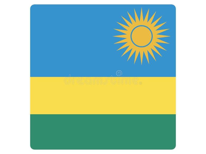 卢旺达的方形的旗子 库存例证