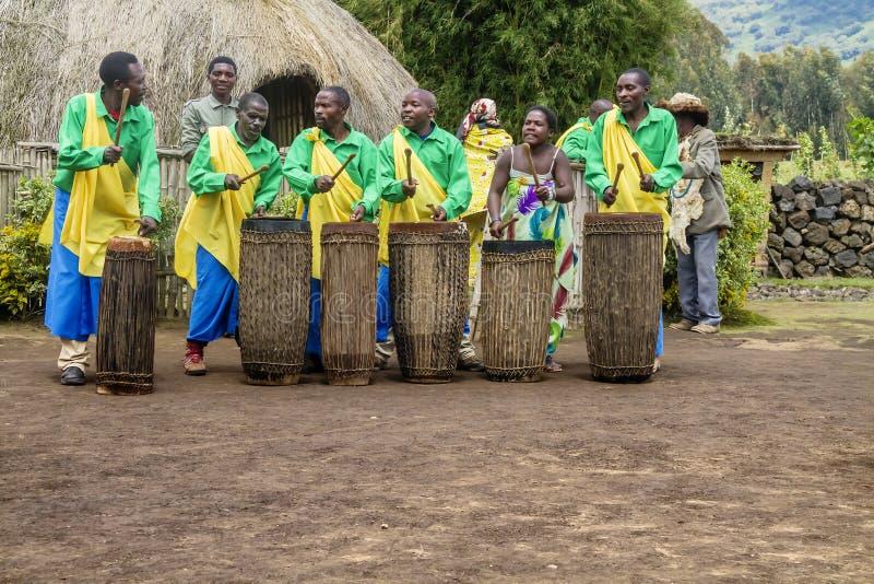 卢旺达鼓手 库存照片
