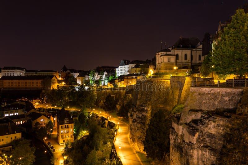 卢森堡在晚上 免版税库存照片