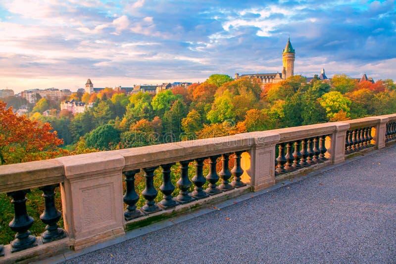 卢森堡在秋天 图库摄影