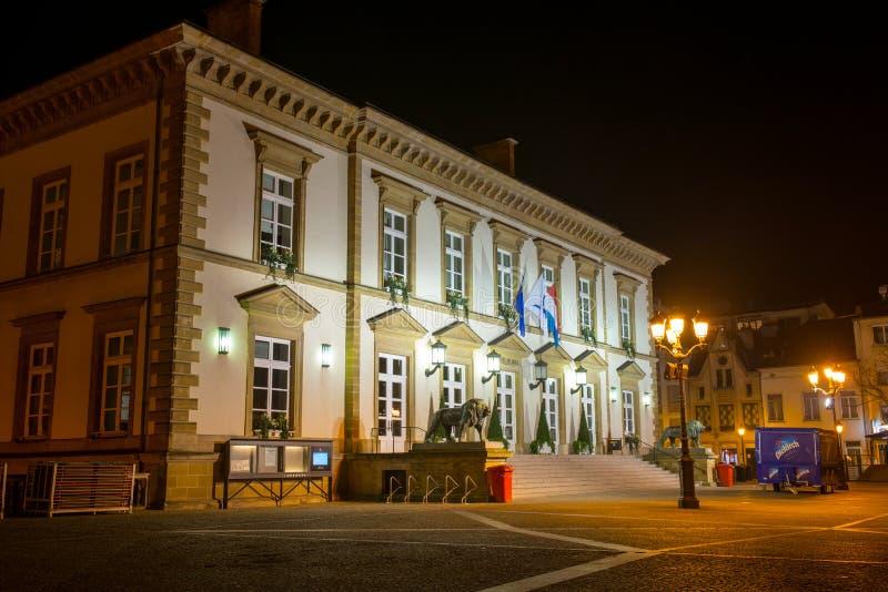 卢森堡城镇厅 免版税库存图片