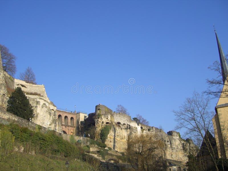 卢森堡废墟 免版税库存图片