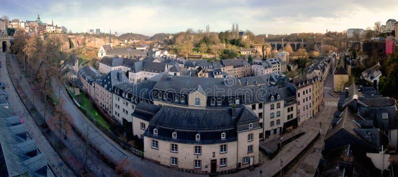 卢森堡的耶路撒冷旧城的高分辨率全景 库存图片