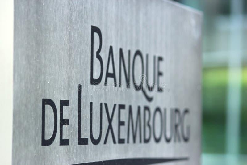 卢森堡的银行 免版税图库摄影