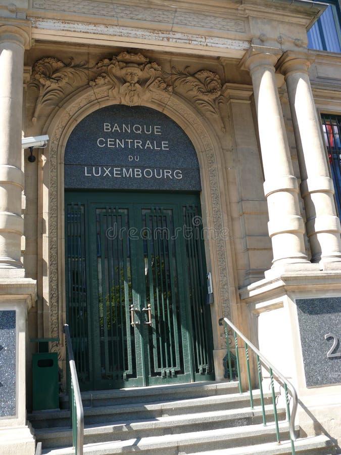 卢森堡-卢森堡大公国,欧洲的中央银行 免版税库存照片
