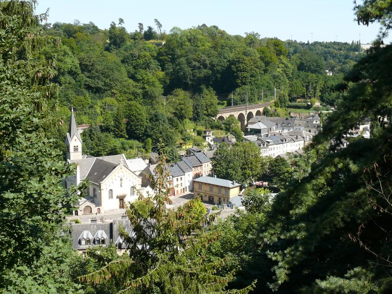卢森堡-城市,卢森堡大公国,欧洲的历史部分 免版税库存照片